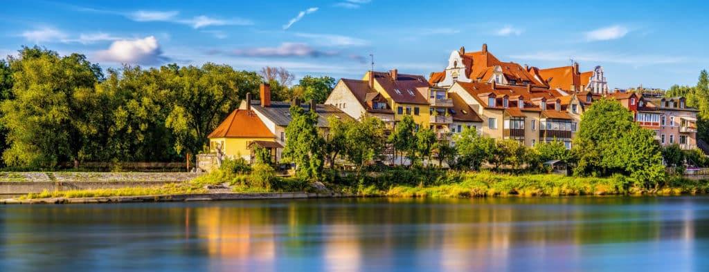 Stadt Regensburg am Wasser